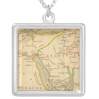 Voyage des Israelites depuis leur sortie d'Egypte Silver Plated Necklace