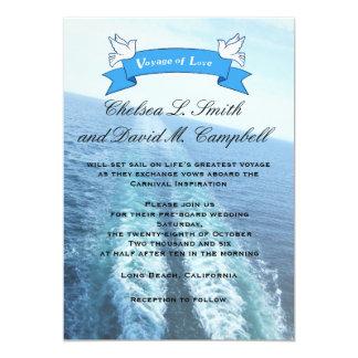 Voyage of Love|Cruise Ship/Destination Wedding Card