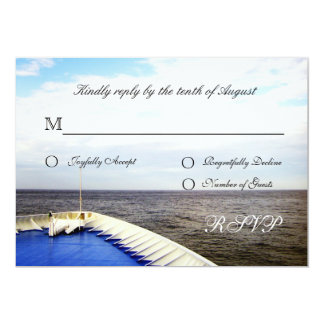 Voyage of Love Cruiseship Destination Wedding RSVP 13 Cm X 18 Cm Invitation Card