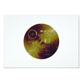 Voyager 1 and 2 Golden Record Sounds of Earth 9 Cm X 13 Cm Invitation Card