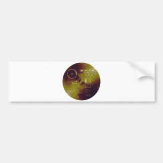 Voyager 1 and 2 Golden Record Sounds of Earth Bumper Stickers