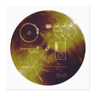 Voyager 1 and 2 Golden Record Sounds of Earth Canvas Prints