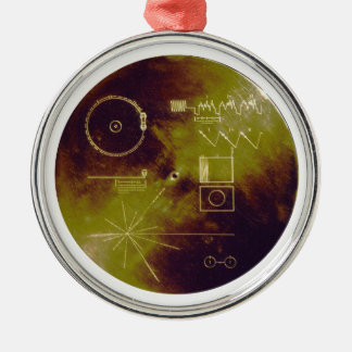 Voyager 1 and 2 Golden Record Sounds of Earth Christmas Ornament