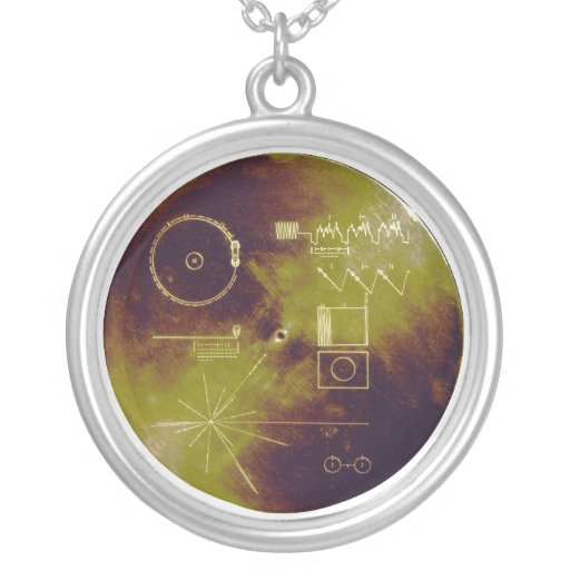 Voyager 1 and 2 Golden Record Sounds of Earth Personalized Necklace
