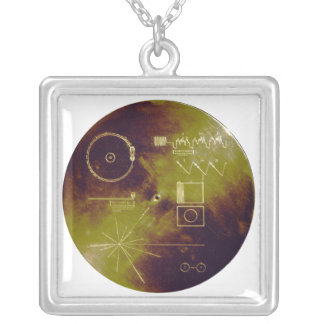 Voyager 1 and 2 Golden Record Sounds of Earth Silver Plated Necklace
