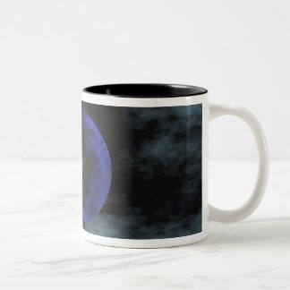 Voyager 2 spacecraft Two-Tone coffee mug