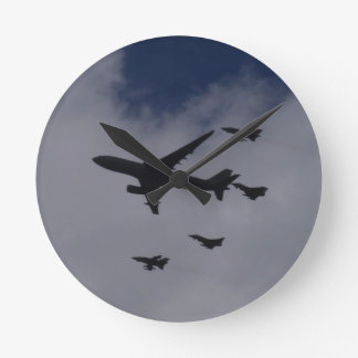 Voyager and Typhoons Round Clocks