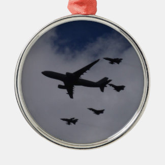 Voyager and Typhoons Round Metal Christmas Ornament