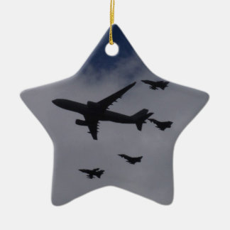 Voyager and Typhoons Double-Sided Star Ceramic Christmas Ornament