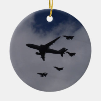 Voyager and Typhoons Double-Sided Ceramic Round Christmas Ornament