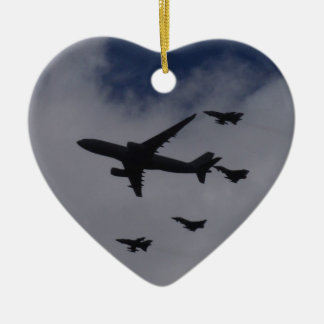 Voyager and Typhoons Double-Sided Heart Ceramic Christmas Ornament