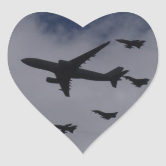 Voyager and Typhoons Heart Sticker