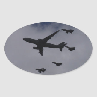 Voyager and Typhoons Oval Sticker
