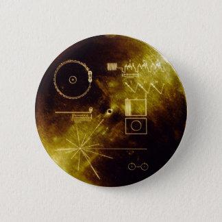 Voyager Golden Record 6 Cm Round Badge