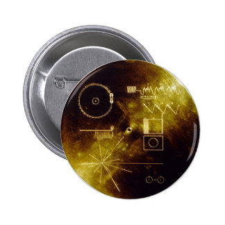 Voyager Golden Record 6 Cm Round Badge