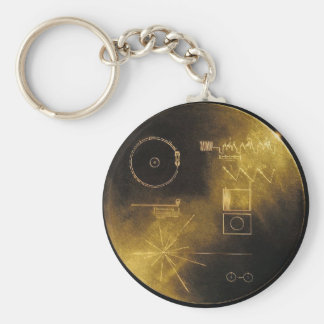 Voyager Golden Record Keychain