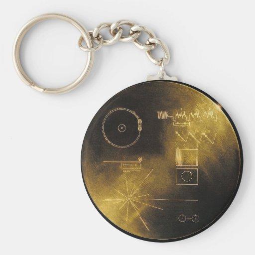 Voyager Golden Record Keychain