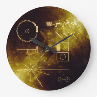 Voyager Golden Record Large Clock
