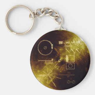 Voyager Message Basic Round Button Key Ring
