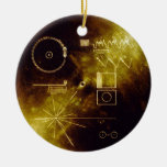Voyager Message Double-Sided Ceramic Round Christmas Ornament