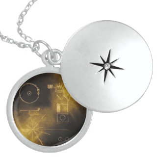 Voyager message locket necklace