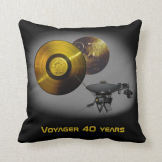 Voyager Spacecraft and Golden Record at 40 Cushion