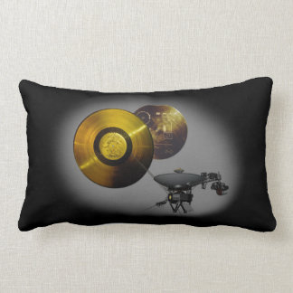Voyager Spacecraft and Golden Record at 40 Lumbar Cushion