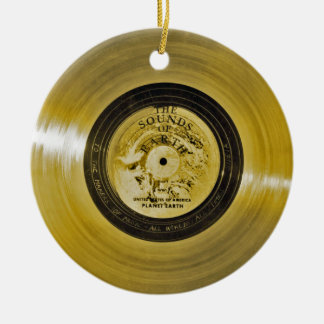 Voyager Spacecraft Golden Record and Cover Christmas Ornament