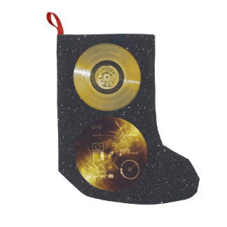 Voyager Spacecraft Golden Record and Cover Small Christmas Stocking