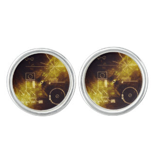 Voyager Spacecraft Golden Record Cover Cuff Links