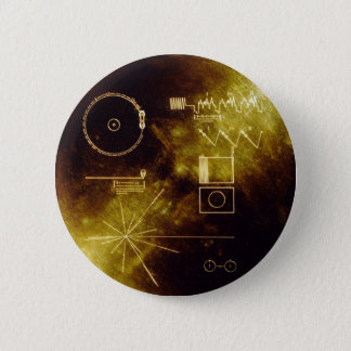 Voyager's Golden Record 6 Cm Round Badge