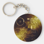 Voyager's Golden Record Basic Round Button Key Ring