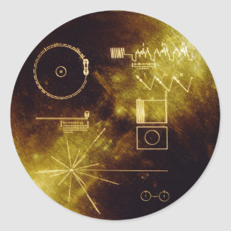 Voyager's Golden Record Classic Round Sticker