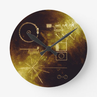 Voyager's Golden Record Round Clock