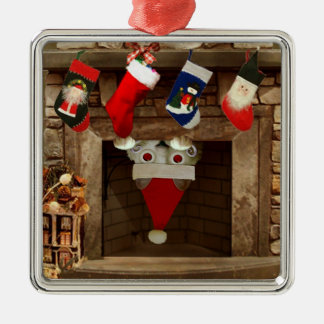 Voyeur Cat is Coming to Town Christmas Ornament