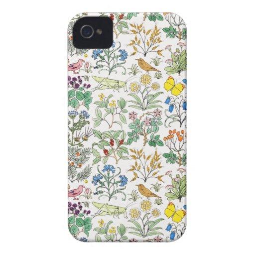 Voysey Apothecary's Garden Pattern iPhone 4 Case