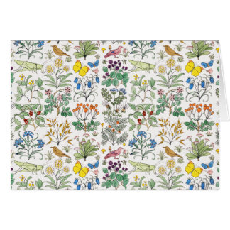 Voysey Apothecary's Garden Pattern Note Cards