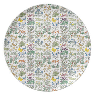 Voysey Apothecary's Garden Pattern Plate