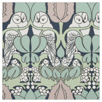 Voysey Owl Arts and Crafts Art Nouveau Fabric