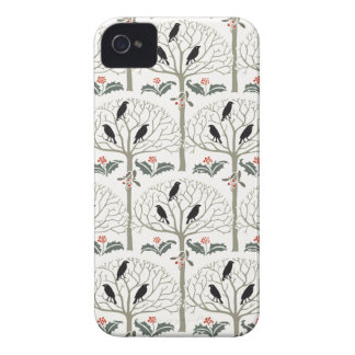 Voysey Rook and Holly Christmas Pattern iPhone 4 Case