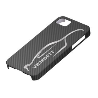 """""""VR38DETT"""" Skyline GT-R Gray Silhouette Logo Barely There iPhone 5 Case"""