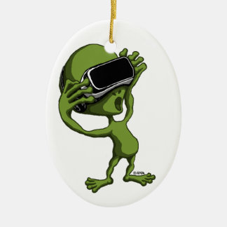 VR alien Ceramic Oval Decoration