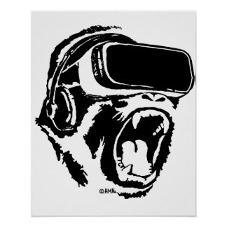 VR Gorilla Poster