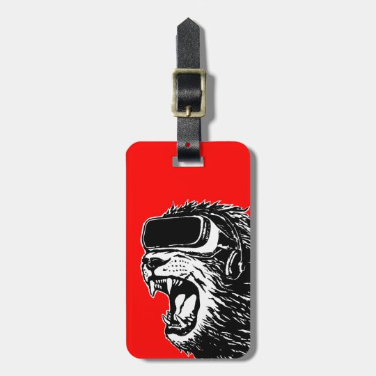 VR Lion Luggage Tag