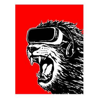 VR Lion Postcard