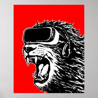 VR Lion Poster