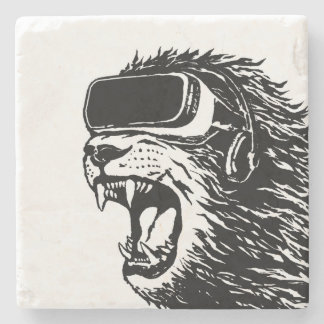 VR Lion Stone Coaster