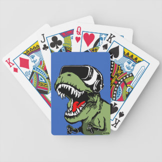 VR T-rex Bicycle Playing Cards