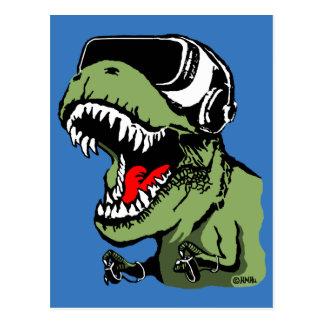 VR T-rex Postcard