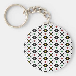 vrancea region romania popular folk motifs pattern key ring